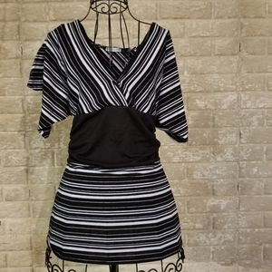 Absolutely Adorable black and white striped blouse